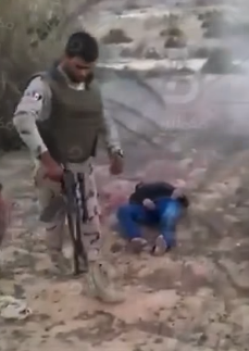 Screenshot taken from video showing apparent unlawful killing in Sinai, Egypt. © YouTube / Mekameleen TV