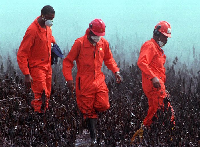 Experts examining Ogoni oil spill in Nigeria