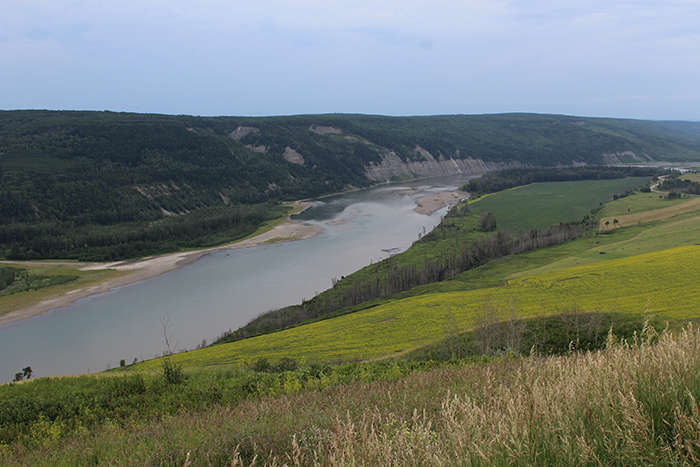 View of the Peace River Valley