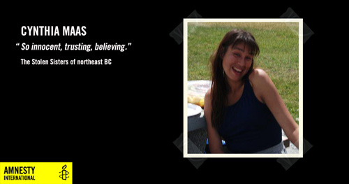 Cynthia Maas, So innocent, trusting, believing, The Stolen Sisters of northeast BC