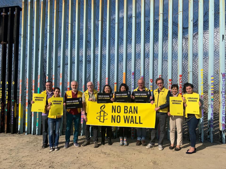Amnesty senior leadership at Mexico USA border wall