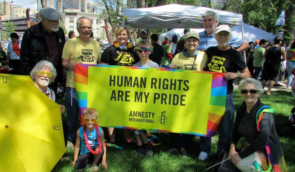 Thanks to Amnesty supporters in Regina for showing their Pride!