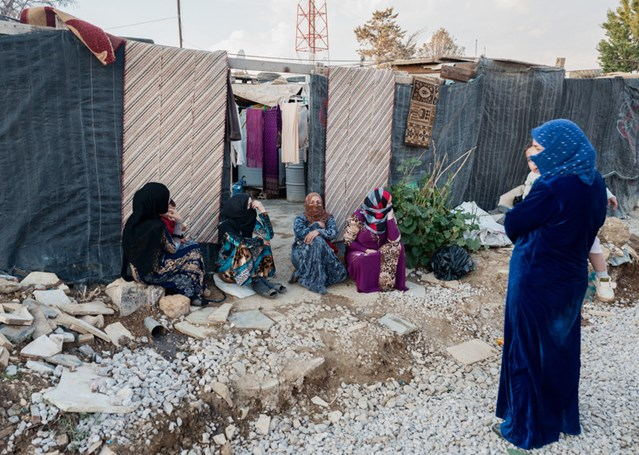 Syrian refugee women in the Beka'a Valley, November 2015. © Giles Clarke/Getty Images Reportage