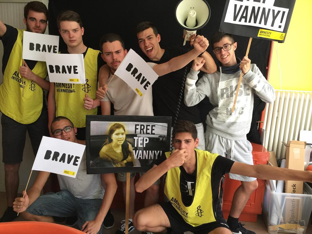 Youth in Luxembourg support Tep Vanny