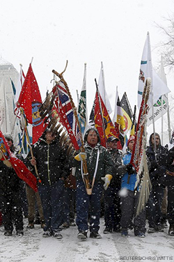 Indigenous peoples of Canada at Idle No More march
