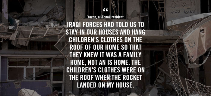 Quote from Mosul report