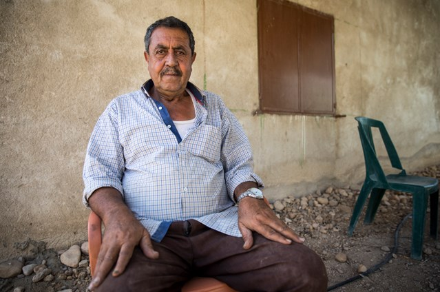 Mustafa Al-Farawi, a date farmer from Al-Jiftlik