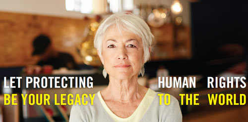 Let protecting human rights be your legacy to the world