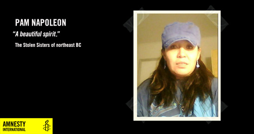 Pam Napoleon, A beautiful Spirit, The Stolen Sisters of northeast BC