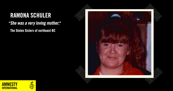 Ramona Schuler, She was a very loving mother, The Stolen Sisters of northeast BC