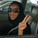 Saudi woman in drivers seat
