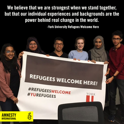 York University Refugees Welcome Organizers